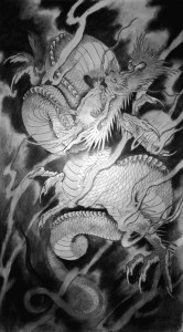 dana helmuth white dragon 2 painting