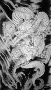 dana helmuth white dragon painting